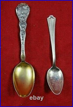 10 Miscellaneous Sterling Silver Souvenir Spoons (#3774)