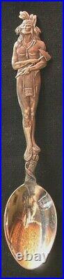 189-Antique souvenir sterling silver spoon
