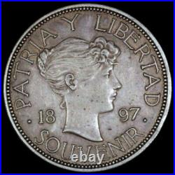 1897 Patria Y Libertad Souvenir Sterling Silver