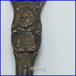 1899 Portland Maine Souvenir Sterling Silver Spoon Observatory Longfellow 6
