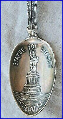 1906 Statue of Liberty New York Sterling Silver Spoon