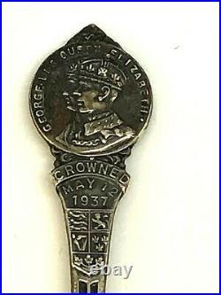1937 George VI Queen Elizabeth Coronation. 925 Sterling Silver Spoon SP-01-14