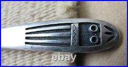 1940s Antique Victor Coochwytewa Hopi Fred Harvey Era Sterling Silver Spoon