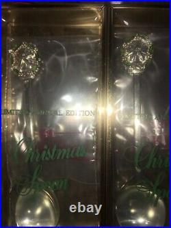 1971- 1979 Gorham Sterling Silver Enamel Christmas Souvenir Spoon 10 Spoons