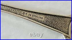 1976 Franklin Mint Sterling Silver Love Demitasse Spoons Set 6