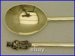 2 English Sterling Silver Apostle Spoon JTHJHM Made 1887-88 St. James & Phillip