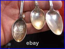 #2 of 11, LOT OF 5 VTG STERLING SILVER SPOONS, PERUVIAN (DEEP BOWL), LINCOLN++++