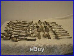 34 Antique STERLING Silver SOUVENIR SPOONS