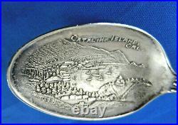 5-1/4 Figural Indian Catalina Island California Sterling Silver Souvenir Spoon