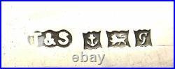 5 English Sterling Silver Turner & Simpson Enamel Souvenir Spoon Birmingham Mk