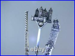 8 Sterling Silver Souvenir Spoons Variety Lot nice ones