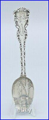 ALDER GULCH Sterling Silver MONT. VIGILANTES Souvenir Spoon LYNCHING Hanging Man