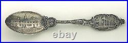 ANTIQUE Sterling Silver Souvenir Spoon Mount Vernon, WASHINGTON