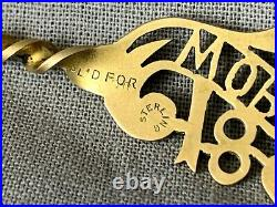 Antique 1893 Worlds Fair Gilt Filigree Sterling Silver Souvenir Spoon