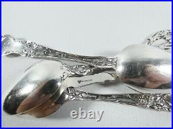 Antique 1907 Lot of 4 American Sterling Silver Novelty Souvenir Teaspoons Spoons