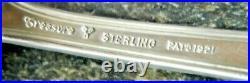 Antique 1921 P E O Sisterhood Sterling Silver Spoon P E O Letters & Star 5 3/8