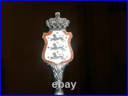 Antique Denmark Flag Coat Of Arms Crest 925 Sterling Enamel Spoon