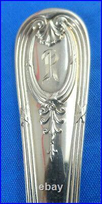 Antique Durgin Navarre 9-1/2 Asparagus Fork Sterling Silver 1909 118.6 Grams