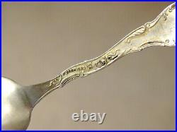 Antique FROG & UMBRELLA Enamel STERLING SILVER Souvenir Spoon PORTLAND OREGON
