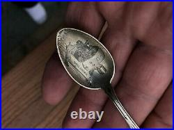 Antique General Electric Pancake Motor 1890 Indian Chief Souvenir Spoon Sterling