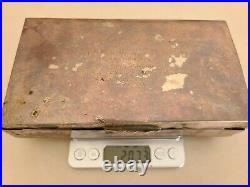 Antique Scrap Sterling Silver 925 Box 207.3 grams