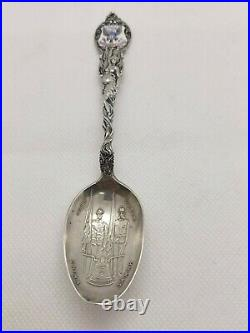 Antique Sterling Silver 9th Regiment US Infantry Spoon by Shepard Mfg