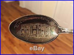 Antique Sterling Silver Souvenir Spoon BPO Elks Club Chillicothe 1900