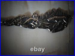 Antique Sterling Silver Spoon Alaska Native American Dog Sled Walrus Bear 24.4g