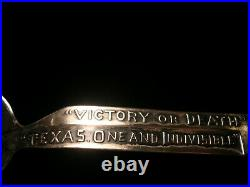 Antique Sterling Spoon The Alamo 6 Inch Daughters Of The Republic Of Texas 1891