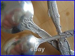 Antique Sterling silver souvenir spoons lot 6pcs