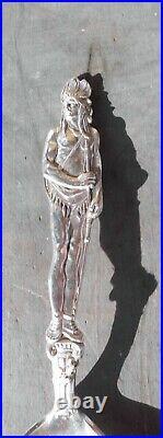 Antique Susanville Cal Ca Sterling Silver Souvenir Spoon Indian