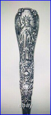 Antique TIFFANY & CO Sterling Statue of Liberty Spoon Souvenir of New York City