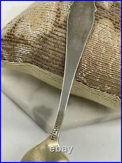 Antique Witch City Gilded Spoon Sterling Silver Witch Spoon