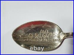 Antique sterling silver souvenir spoons
