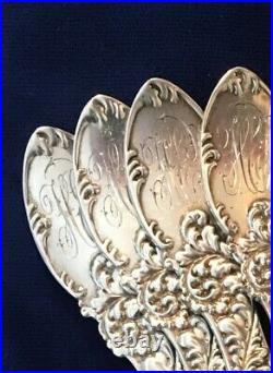 Antique/vintage J. E. Caldwell, Set Of (8) Sterling Silver Grapefruit Spoons