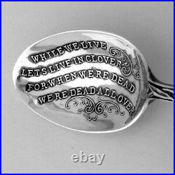 Art Nouveau Souvenir Spoon Nude Lady Figure Paye Baker Sterling Silver