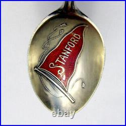 Art Nouveau Souvenir Spoon Stanford Enamel Bowl Shepard Sterling Silver
