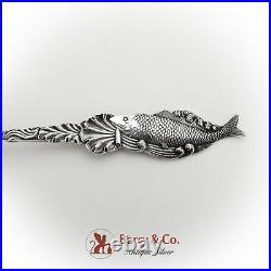 Avalon Santa Catalina Island Souvenir Spoon Fish Shell Handle Sterling Silver