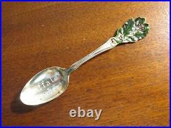 BAKER-MANCHESTER Sterling Silver Souvenir Teaspoon BUFFALO CENTER, IOWA enamel
