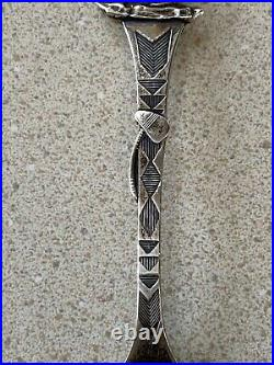Bemidiji Minnesota Sterling Spoon Silver American Indian Dog 1911 21.4 g 21-3