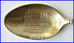 Brigham Young Mormon Temple Salt Lake Utah Sterling Souvenir Spoon