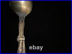CSA Sterling Silver Souvenir Spoon Robert E Lee Richmond Virginia Confederate