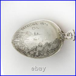 Catalina Island Souvenir Spoon Watson Sterling Silver 1900