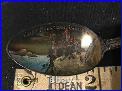 Cliff House SEAL ROCK STERLING Souvenir Spoon SAN FRANCISCO CALIFORNIA Painted