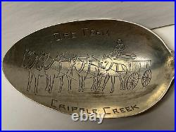 Cripple Creek Colorado ORE TEAM Mule Mining Sterling Souvenir Spoon