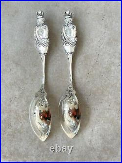 DURGIN CO. STERLING SILVER SOUVENIR SPOONS POLAND SPRING WATER PATTERN No Top