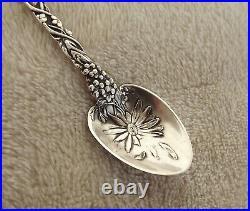 Daisy by Alvin 4 Sterling souvenir demitasse spoon Jamestown'94