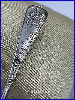 Durgin for Daniel Low Sterling Silver SALEM WITCH DEMITASSE SPOON, 4.25