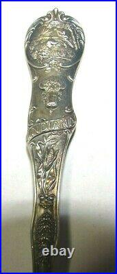 EARLY Sterling Silver Indianapolis Motor Speedway Souvenir Spoon Indy 500