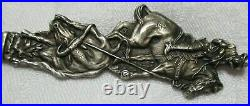 El Paso Sterling Silver Rodeo Cowboy on Horse Souvenir Spoon Roped Up 25 G